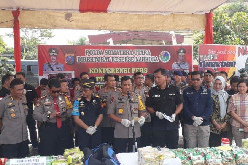 Ditresnarkoba Polda Sumatera Utara ungkap peredaran 36 kg sabu