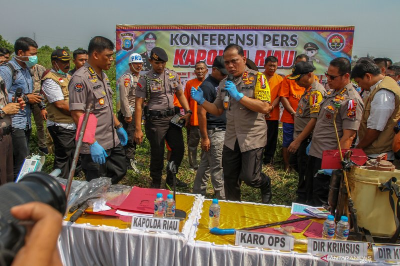 Karhutla Riau - Polda Riau periksa 18 saksi korporasi tersangka Karhutla