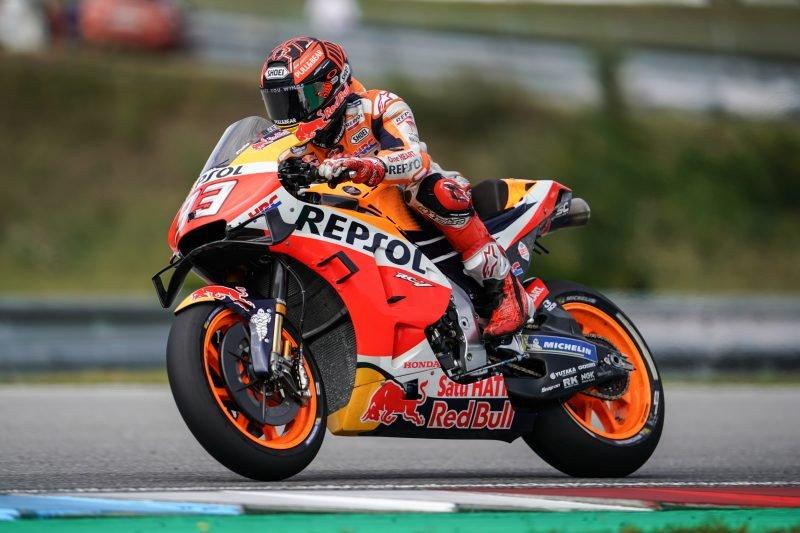 Dovizioso terjatuh, Marquez puncaki sesi latihan Jumat GP Austria