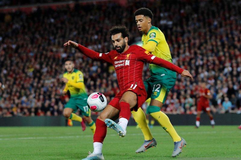 Dijk dan Salah cetak gol, Liverpool libas Norwich 4-1