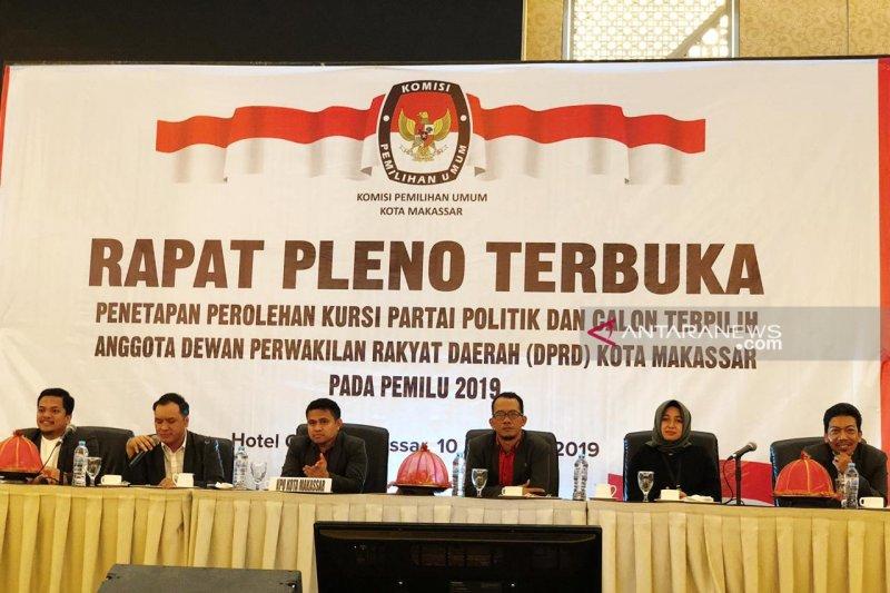 KPU Makassar tetapkan 50 calon legislatif terpilih DPRD