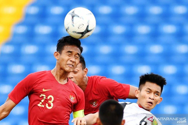 Timnas U-18  belum mampu cetak gol di babak pertama kontra Myanmar