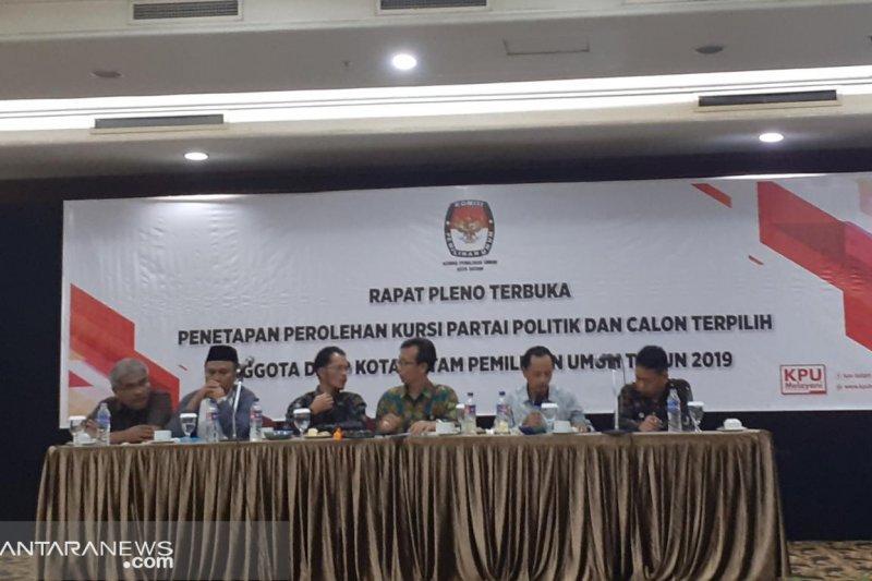 KPU Batam tetapkan 50 calon anggota legislatif terpilih