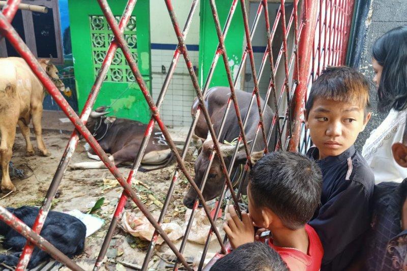 Tempat pengungsian korban kebakaran Tebet kekurangan pemotong kurban