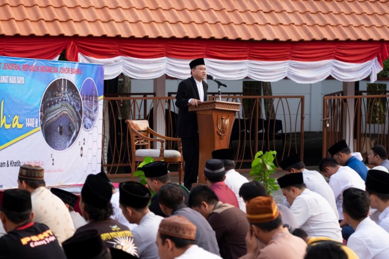 KJRI Johor Bahru gelar Salat Idul Adha dan kurban