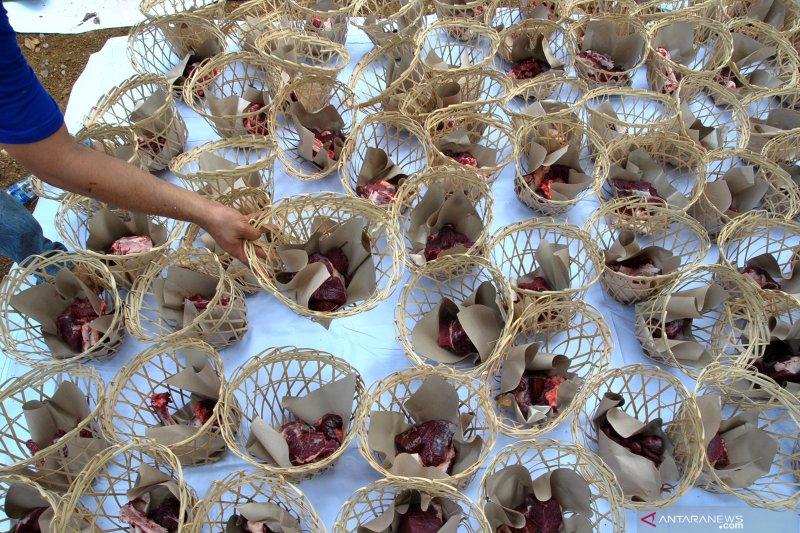 Pesta bakar sate daging kurban semarakkan Idul Adha di Palembang