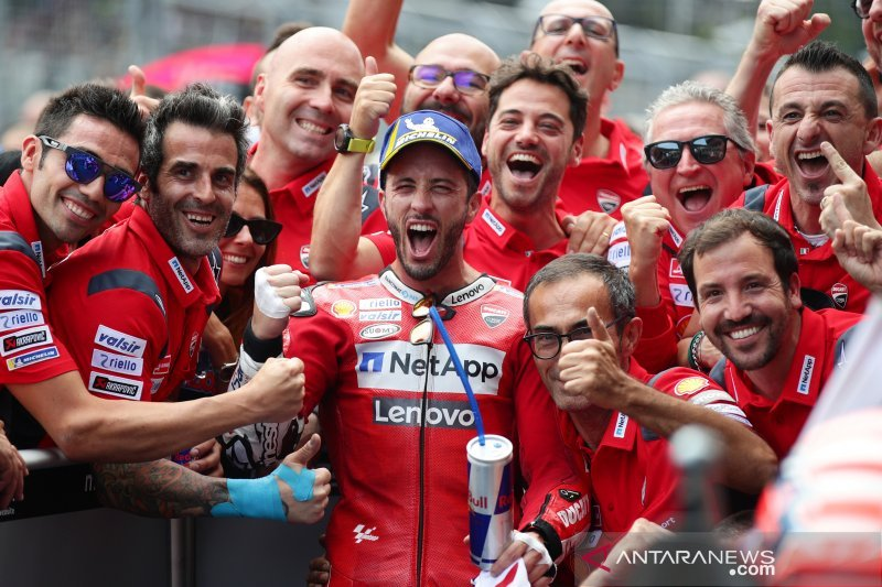 Hasil GP Austria, Dovizioso lanjutkan dominasi Ducati di Spielberg