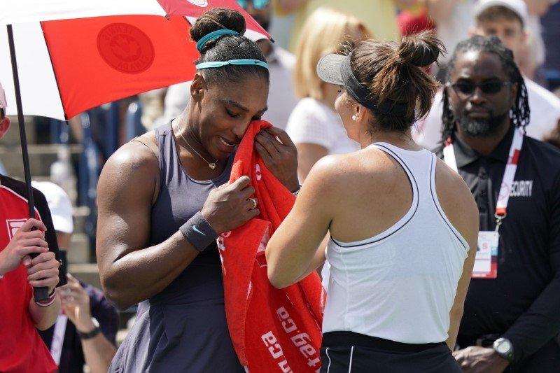 Cedera paksa Serena serahkan gelar Toronto kepada Andreescu