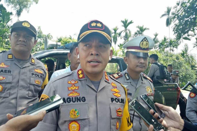 Brimob Polda Kalteng bantu pengamanan area Freeport saat HUT kemerdekaan RI