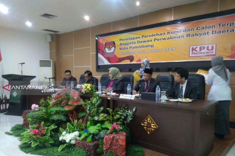 KPU Sumsel tetapkan 75  anggota DPRD terpilih 2019 - 2024