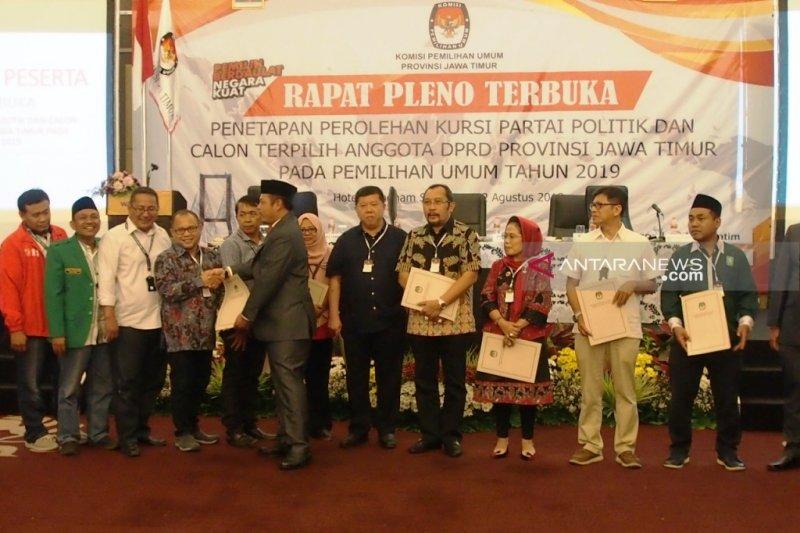 KPU tetapkan 120 calon terpilih anggota DPRD Provinsi Jatim