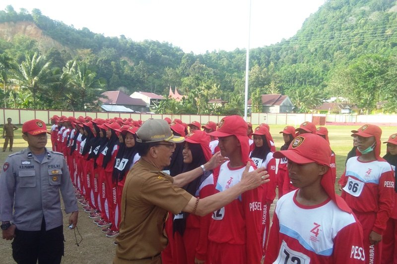 73 calon Paskibra di Pesisir Selatan siap sukseskan upacara HUT RI