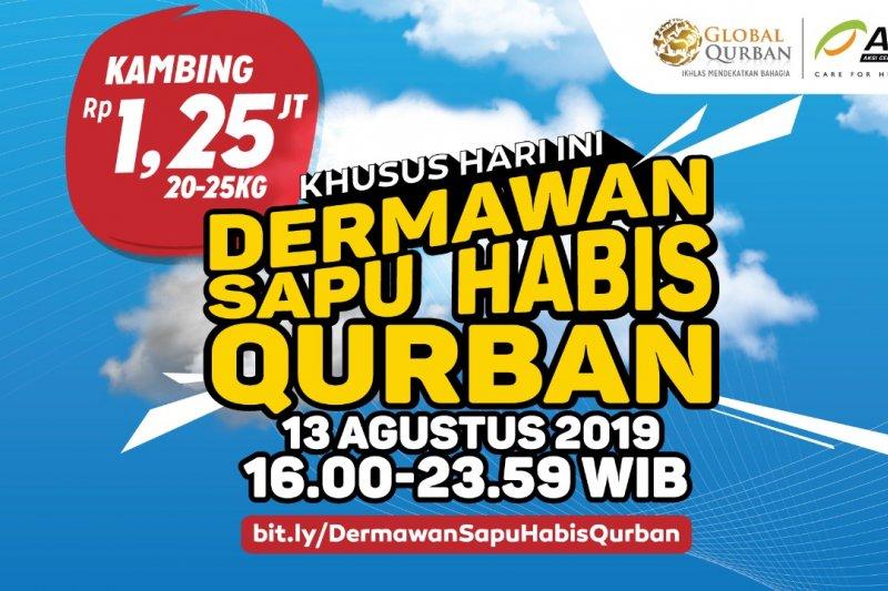 Dermawan Sapu Habis Qurban, harga kambing Rp1,25 Juta!