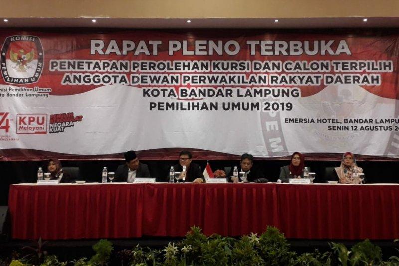 10 partai raih kursi DPRD Kota Bandarlampung