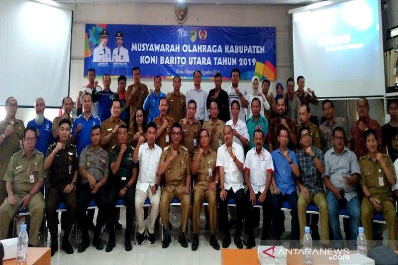 H Rony terpilih aklamasi jadi Ketua KONI Barito Utara