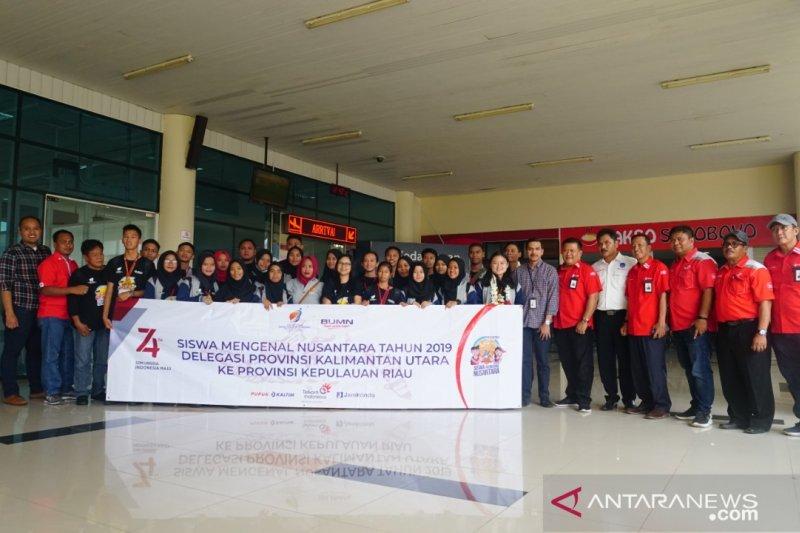 Peserta SMN 2019 Kaltara tiba di Tanjung Pinang