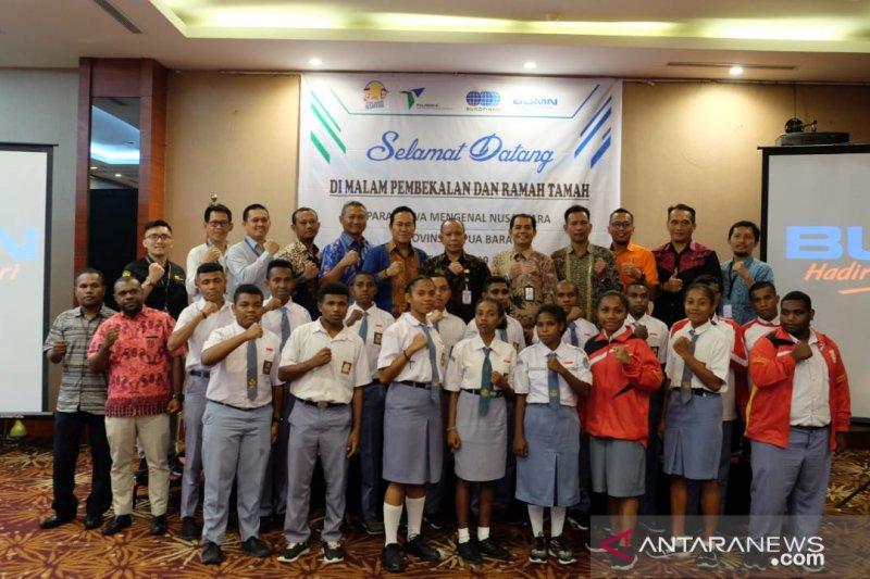 Pelindo IV berangkatkan 20 SMN asal Papua Barat ke Sulbar