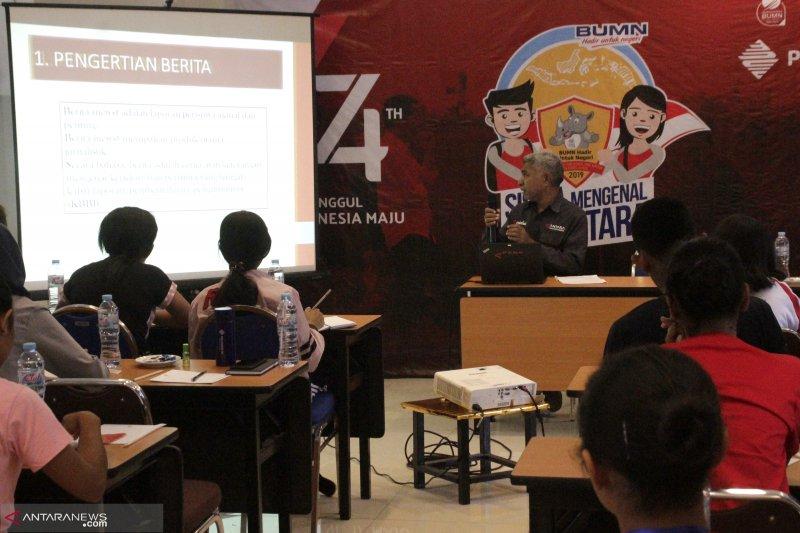 Peserta SMN 2019 dapatkan pelatihan jurnalistik dari ANTARA