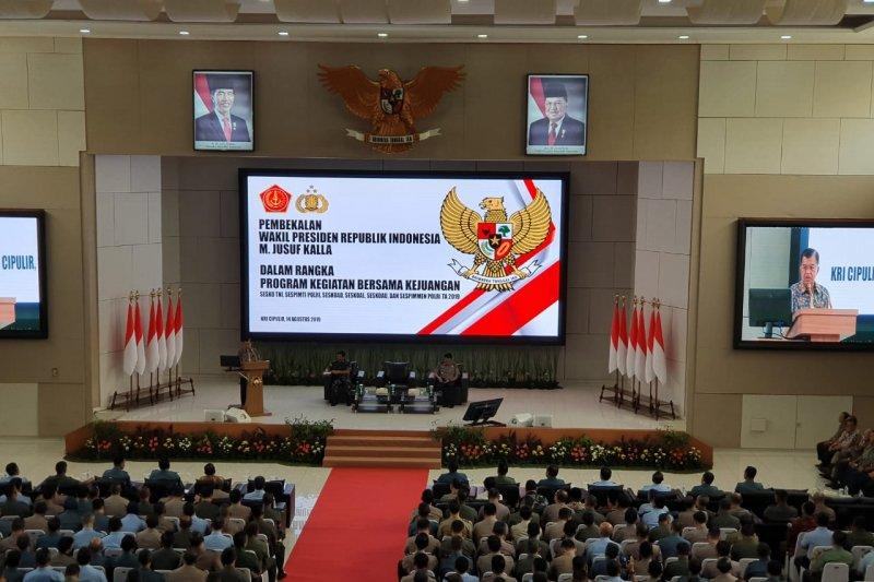 JK: Tugas TNI-Polri tidak hanya menjaga keamanan dan ketertiban