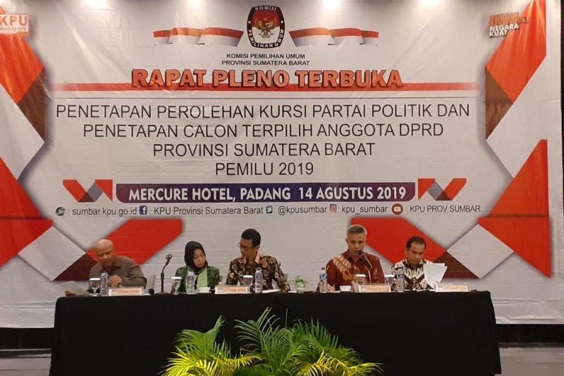 Ini 65 calon terpilih anggota DPRD Sumatera Barat periode 2019-2024