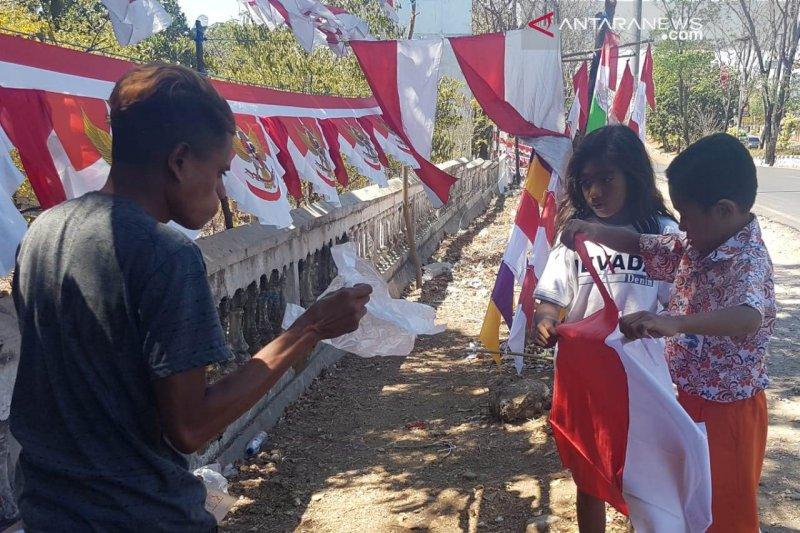 Omset penjualan bendera merah putih meningkat