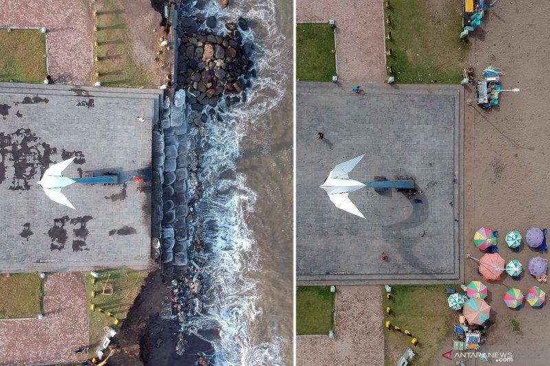 Monumen Merpati Perdamaian terancam roboh akibat abrasi