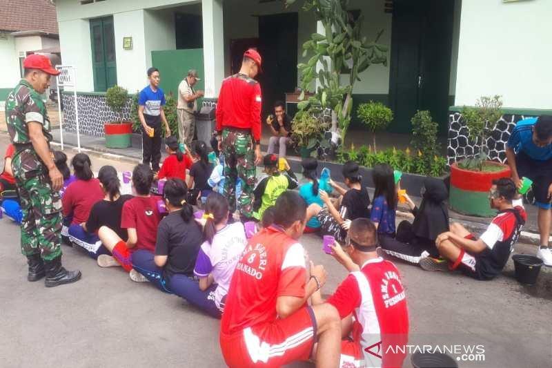 Peserta SMN dari Sulut dapat pengalaman baru di Rindam IV/Diponegoro