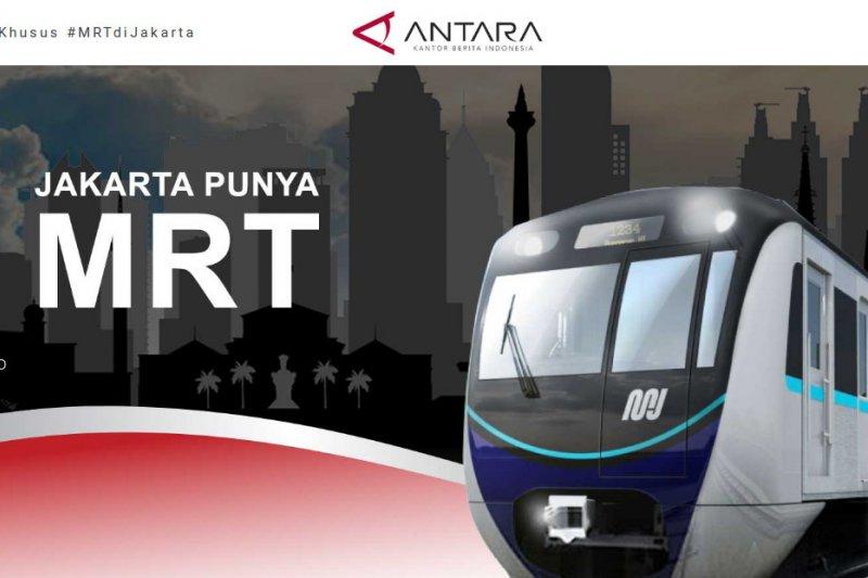 Meriahkan HUT RI, MRT buat instalasi sejarah kereta Indonesia