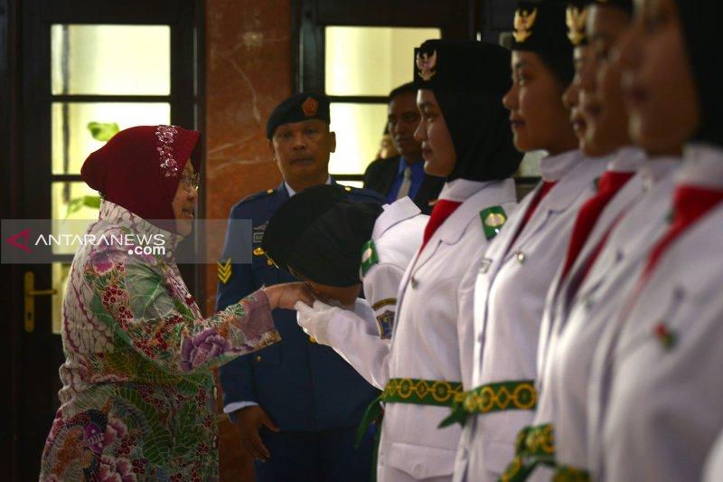 Wali Kota Surabaya kukuhkan 100 anggota Paskibraka 2019