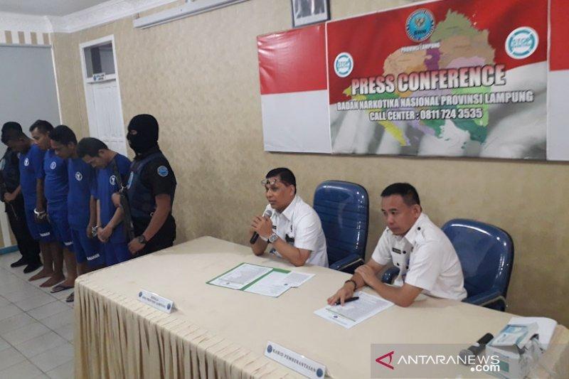 BNNP Lampung gagalkan pengiriman 7 kg sabu-sabu asal Aceh