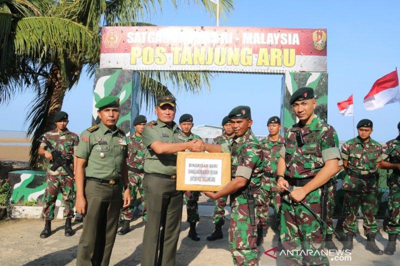 Danrem 091/ASN kunjungi prajurit di perbatasan RI- Malaysia