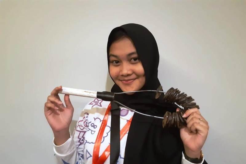 Peserta SMN Sulsel belajar alat musik tradisional di Papua