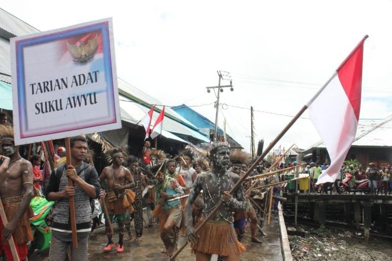 Karnaval budaya di Asmat meriahkan HUT RI