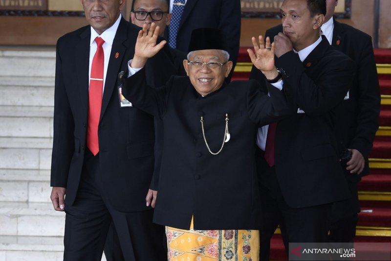 KH Ma'ruf Amin Hadiri Sidang Tahunan MPR