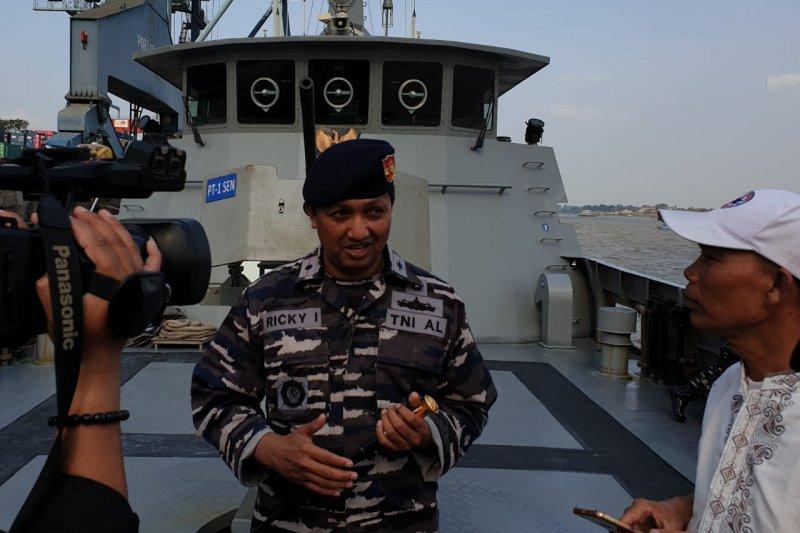 KRI Siwar dukung Pangkalan TNI-AL Palembang mencegah penyelundupan