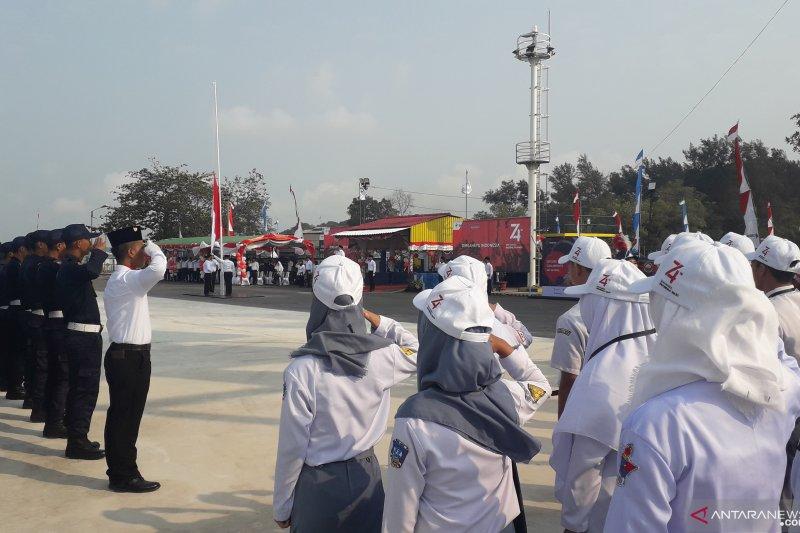 Peserta SMN ikuti upacara peringatan Kemerdekaan RI di Mentok