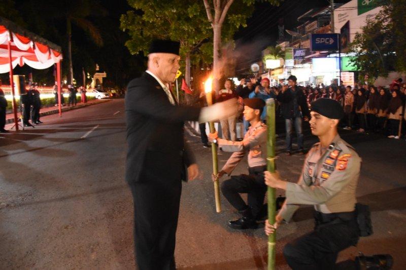 Pawai obor meriahkan HUT Ke-74 RI di Aceh Tengah