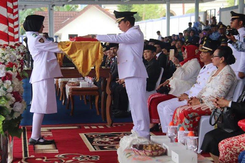 Peringatan Hari Kemerdekaan RI di Barito Utara berlangsung Khidmat