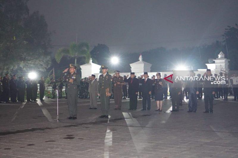 Kodim 0403 OKU gelar upacara kehormatan  di Taman Makam Pahlawan