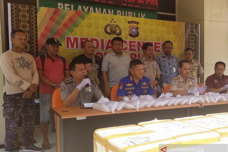 Polda Riau gagalkan penyelundupan benih lobster senilai Rp14,6 M