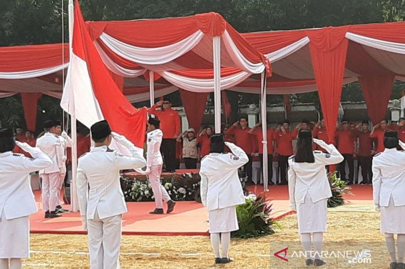 PDIP selenggarakan upacara peringatan HUT Ke-74 RI di Jakarta