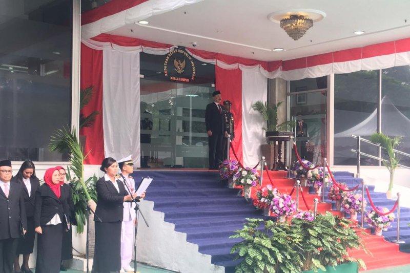 Upacara HUT RI di KBRI Kuala Lumpur diwarnai pemberian penghargaan