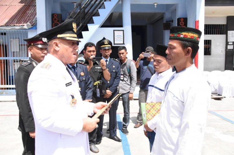 Dua napi Rutan Kelas II B Takengon Aceh dapat remisi bebas