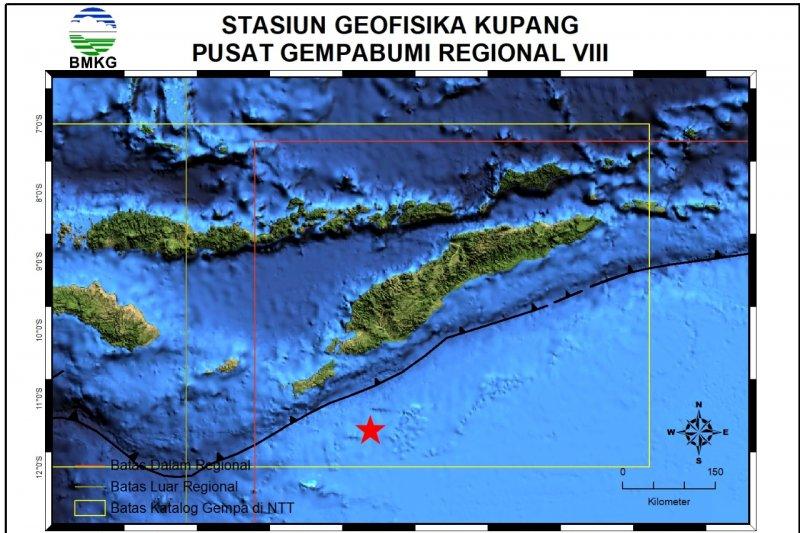 Gempa 5.1 SR guncang Rote Ndao