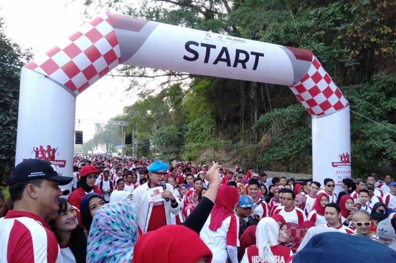 Empat BUMN gelar kegiatan sosial dan olahraga kawasan wisata Jatiluhur
