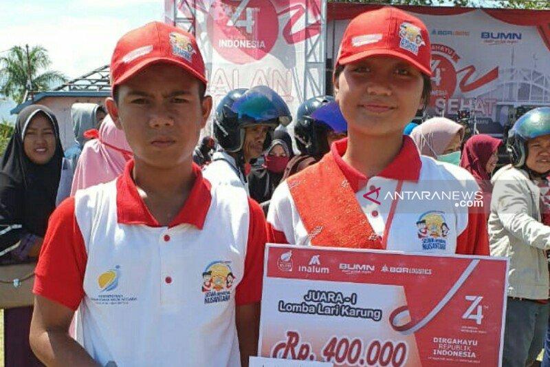 Tarian khas Suku Kaili-Sulteng ikut ditarikan peserta SMN Sumut