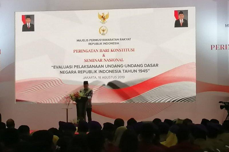 Peringatan Hari Konstitusi, Ketua MPR: Konstitusi harus sesuai dengan tuntutan zaman
