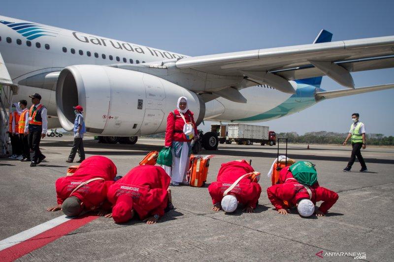 10.040 haji Jawa Tengah dan DIY telah kembali ke daerah asal