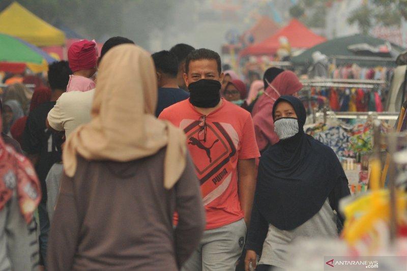 Kota Jambi diselimuti kabut asap