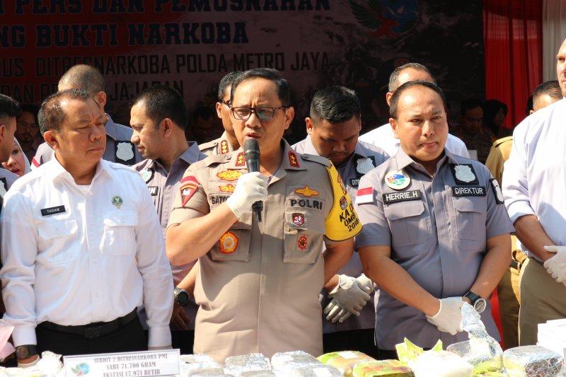 Polda Metro Jaya gelar pemusnahan sabu-sabu dan ekstasi